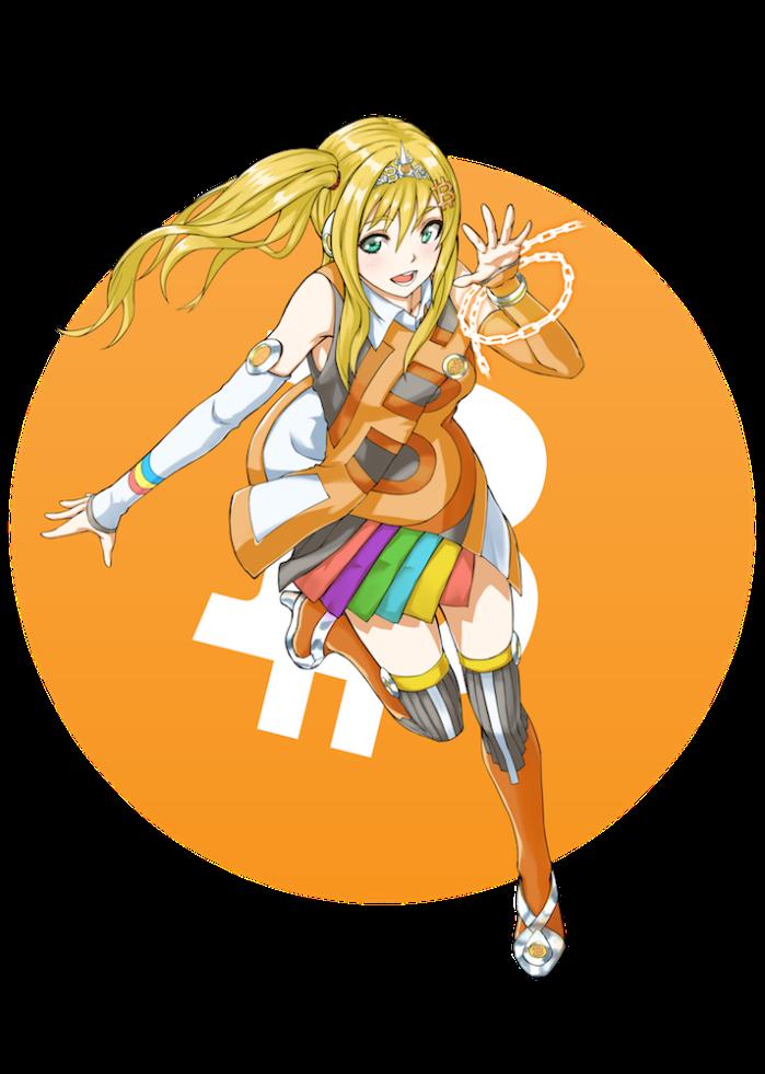 1 Bitcoin girl