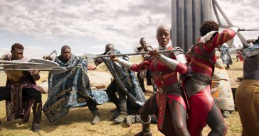 The Dora Milaje ready to battle
