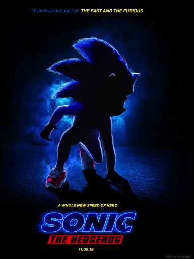 SONIC MOVIE POSTER 2019